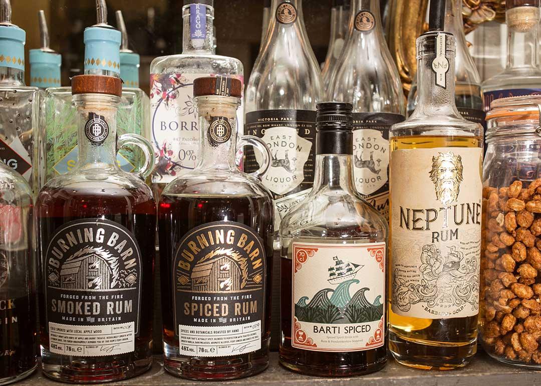 Drinks at The Railway, Cheltenham - Spirits, Rum
