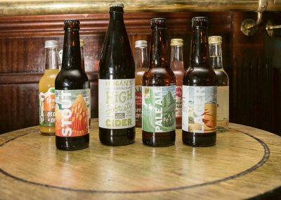 Drinks at the Railway, Cheltenham - bottled